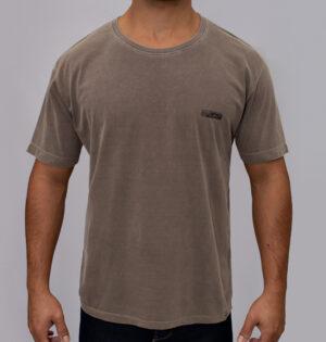 Camiseta Estonada Logo Marrom