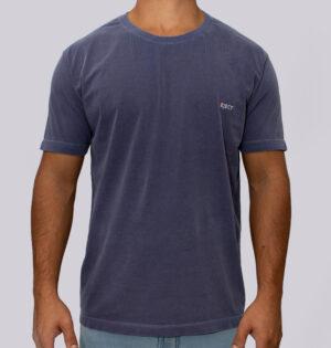 Camiseta Estonada Logo Marinho