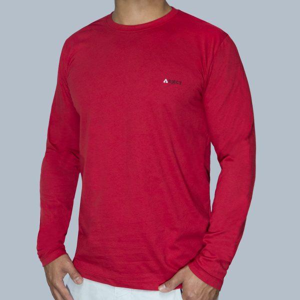 Camiseta Manga Longa Vermelha