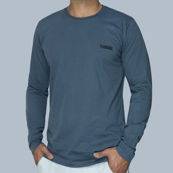 Camiseta Manga Longa Cinza