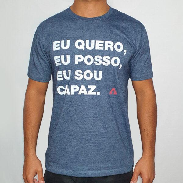 Camiseta Mescla Estampa Frase