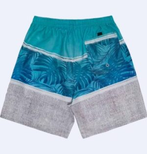 Short Microfibra Estampa Tropical